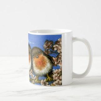 Two robins mug by Tanya Bond