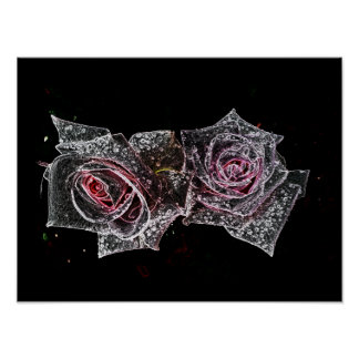Two roses. By Anna Sofia Poster