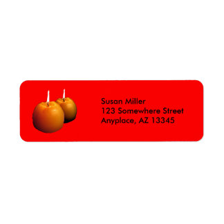 Two round candles Return Adress label