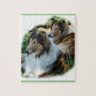 Two Sable Rough Collies Jigsaw Puzzle
