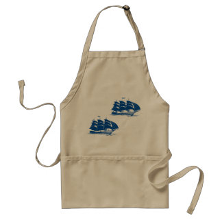 Two Sailing Ships Apron