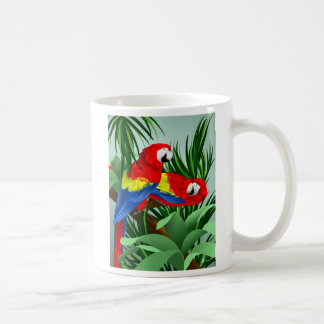 Two Scarlet Macaws Coffee Mug