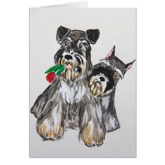 Two schnauzers card