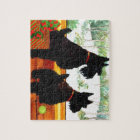 Two Scottie Dogs Waiting for Santa Claus Jigsaw Puzzle