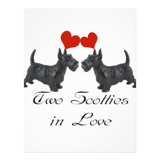 Two Scotties in Love Multi products selected Custom Letterhead