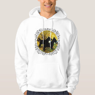 Two Scottish Terriers in Autumn Hoodie