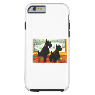 Two Scotty Dogs at Christmas Tough iPhone 6 Case