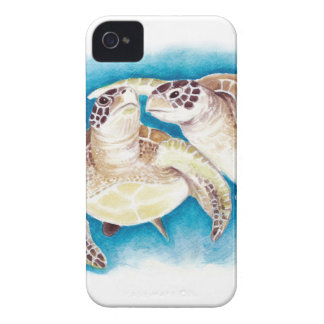 Two Sea Turtles iPhone 4 Covers