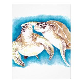 Two Sea Turtles Letterhead