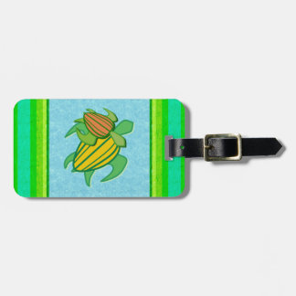 Two Sea Turtles Luggage Tag