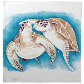 Two Sea Turtles Napkin