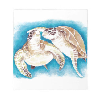 Two Sea Turtles Notepad