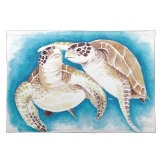 Two Sea Turtles Placemat