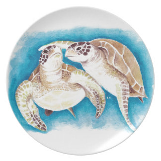 Two Sea Turtles Plate
