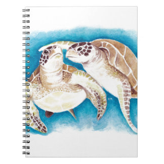 Two Sea Turtles Spiral Notebook