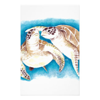 Two Sea Turtles Stationery