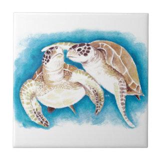 Two Sea Turtles Tile