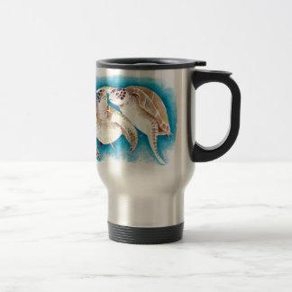 Two Sea Turtles Travel Mug