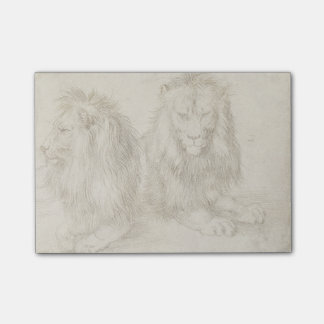 Two Seated Lions Albrecht Durer Post-it® Notes