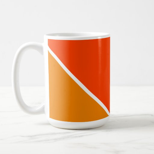 Two Shaded Orange Mugs