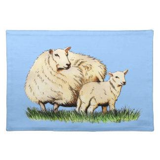two sheep animal placemat