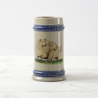 two sheep beer stein