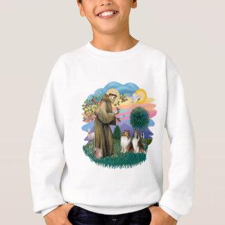 Two Shelties - St. Francis (ff) Sweatshirt