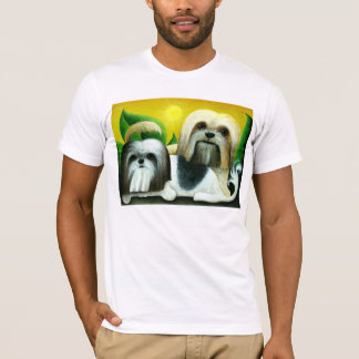 Two Shih Tzu Dogs T-Shirt