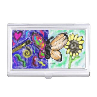 two side butterfly business card holder