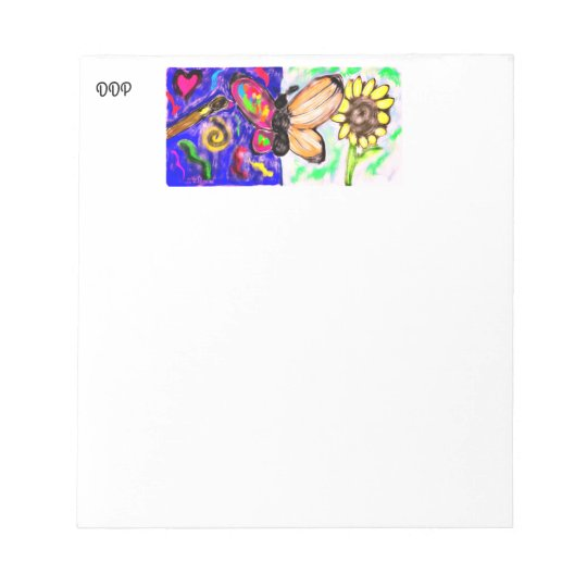 two side butterfly notepad
