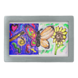 two side butterfly rectangular belt buckle