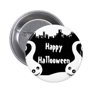Two side ghosts Halloween button