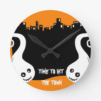 Two side ghosts Halloween clock
