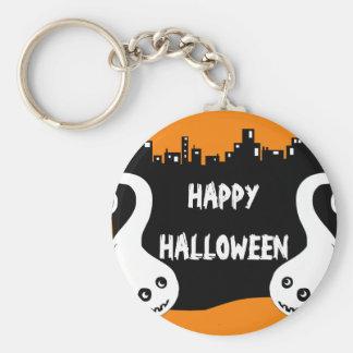 Two side ghosts Halloween keychain