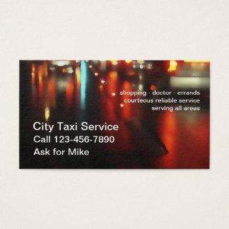Two Side Taxi Service Business Card