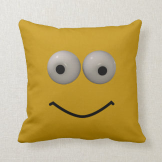 Two Sided 3d Style Emoticon Throw Pillow