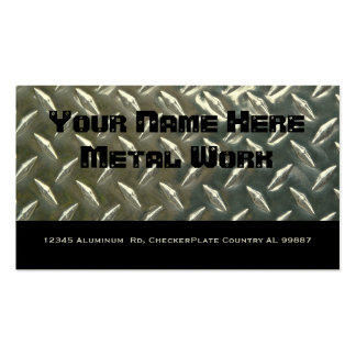 Two Sided Aluminum Metal for Mechanic or ? Business Cards