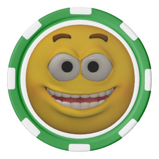 Two Sided Emoticon Kid's Poker Chips