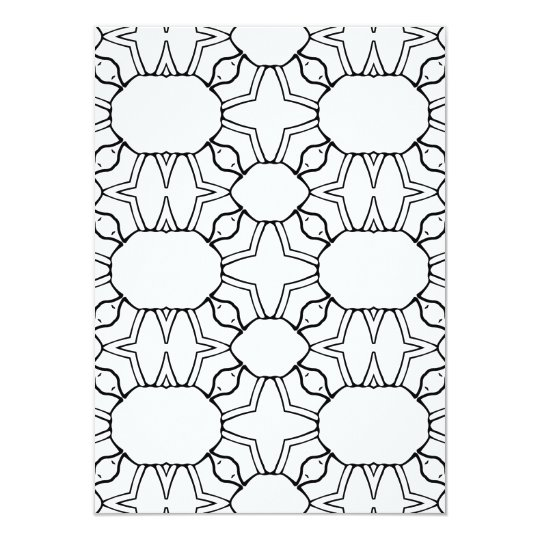 Two sided Geometric Pattern Colouring Card