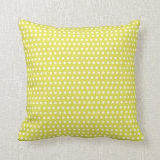two sided green white polka dots red white stripes throw pillow