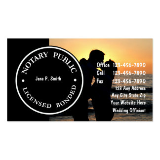 Two Sided Notary Business Cards