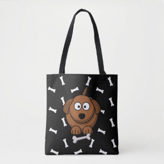 Two Sided Personalized Dog Name Toys & Treats Bag