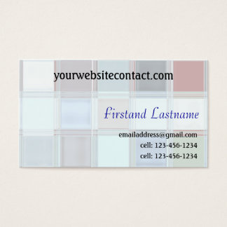 Two Sided Tile Art Customizable Business Cards