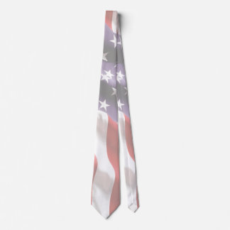 Two Sided United States Flag Stars n Stripes Tie