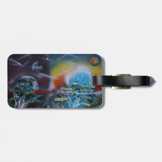 two sides planet scenes spacepainting bag tag