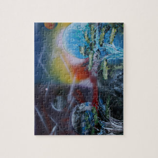 two sides planet scenes spacepainting jigsaw puzzle