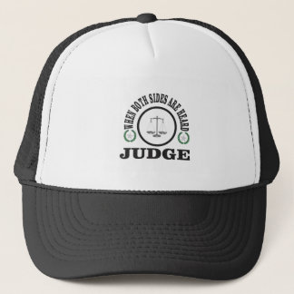 two sides then judge trucker hat