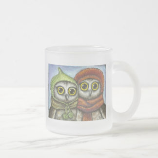 Two sisters frosted glass coffee mug