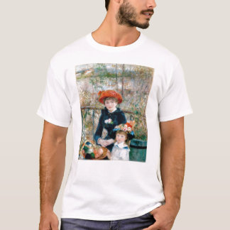 Two Sisters on Terrace by Renoir. Fine art print. T-Shirt