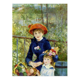 Two Sisters On the Terrace By Renoir Post Cards